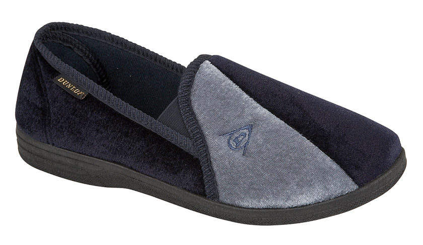 Dunlop Navy/Grey Slippers