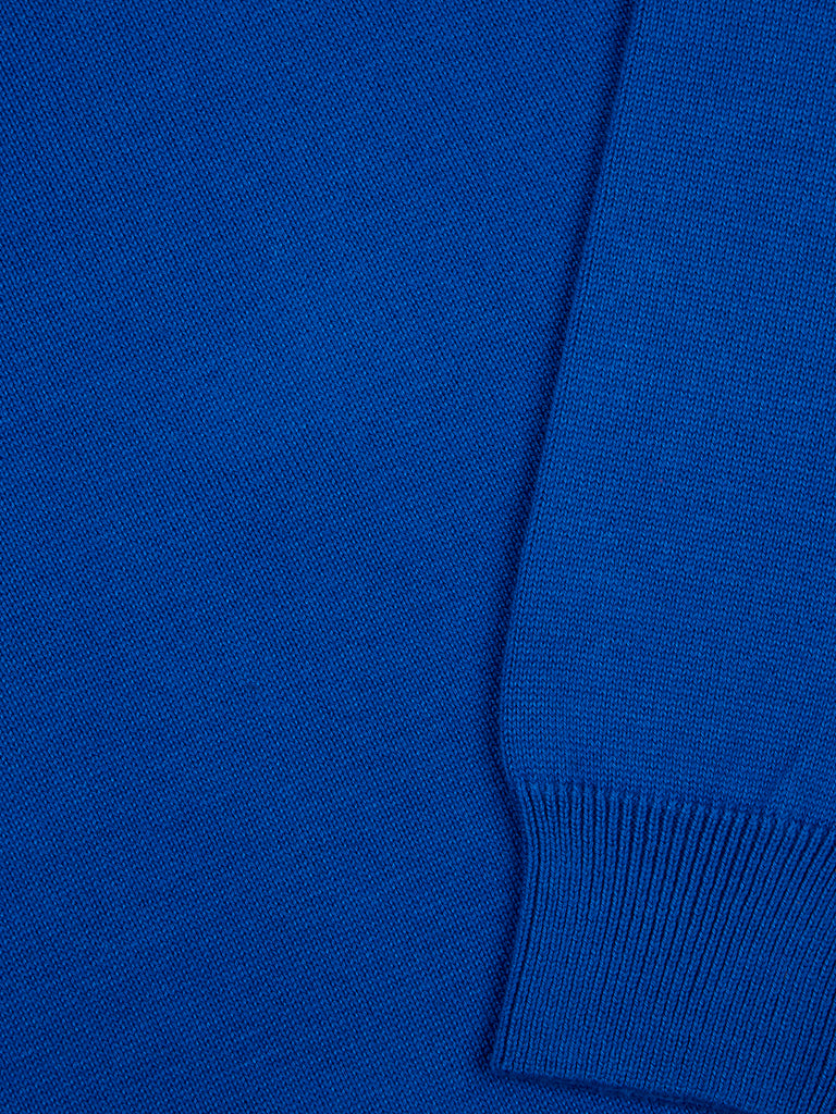 Drifter Round Neck Cotton Blend Pullover - Royal Blue