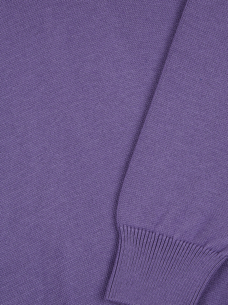 Drifter Round Neck Cotton Blend Pullover - Lilac