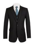 Scott Classic Fit Mix & Match Suit - Black Wool Blend Jacket
