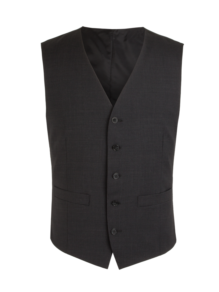 Scott Classic Fit Mix & Match Suit - Charcoal Wool Blend Waistcoat