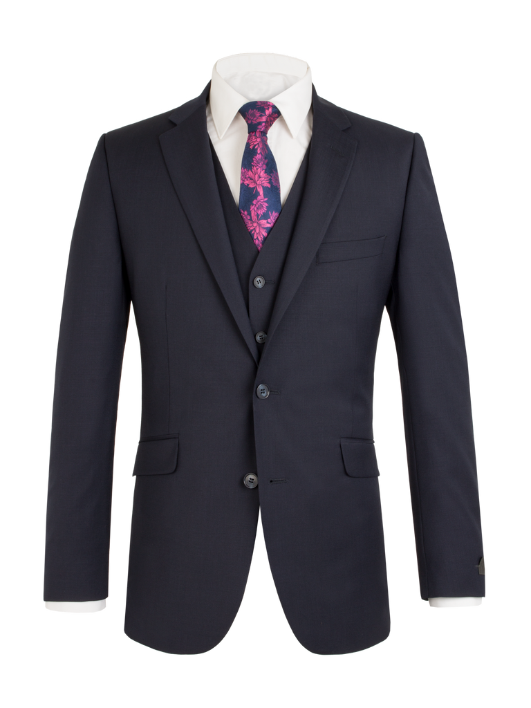 Scott Classic Fit Mix & Match Suit - Navy Wool Blend Jacket