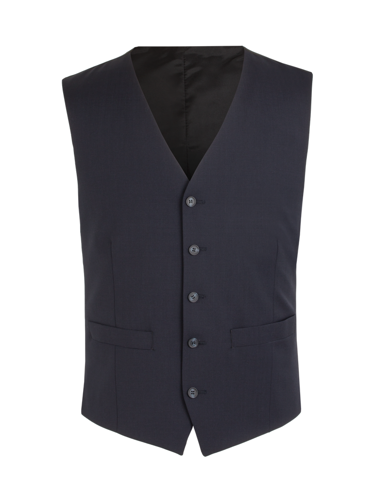 Scott Classic Fit Mix & Match Suit - Navy Wool Blend Waistcoat