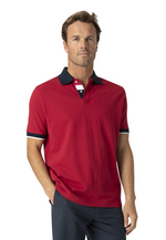 Brook Taverner Contrast Collar Polo Shirt - Red COMING SOON