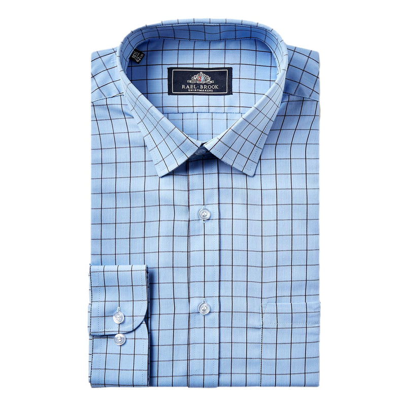 Rael Brook Window Pane Check Shirt - Blue