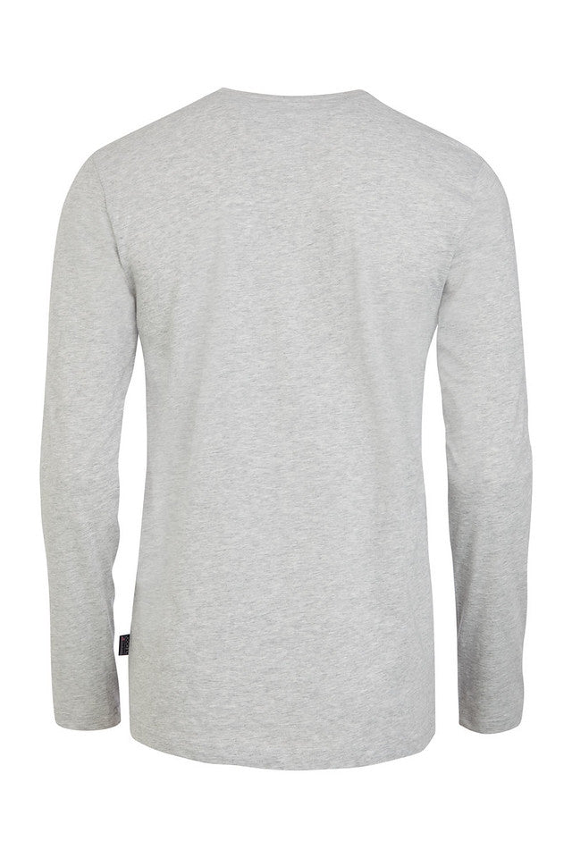 Jockey USA Originals Long Sleeve T-Shirt - Heather Grey