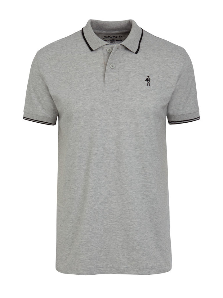 Jockey USA Originals Polo Shirt - Heather Grey