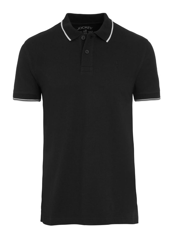 Jockey USA Originals Polo Shirt - Black