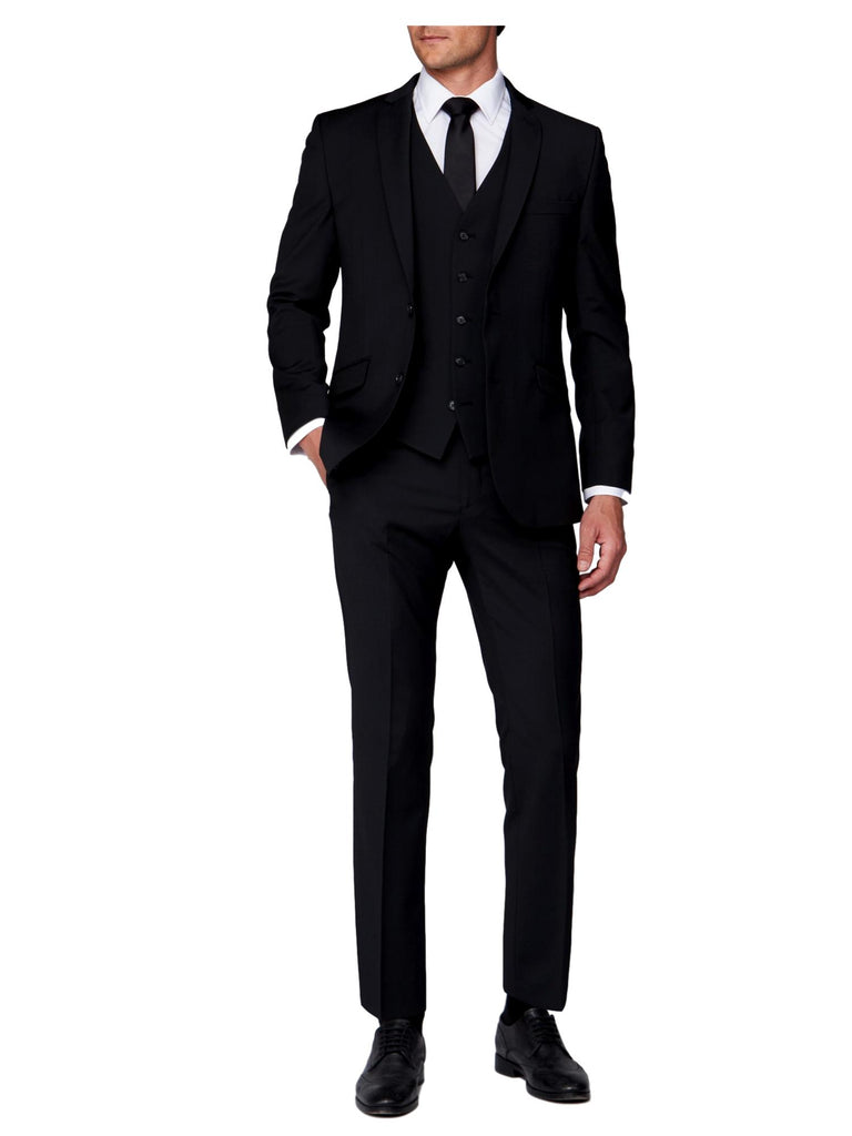 Scott Tapered Fit Mix & Match Suit Trousers - Black