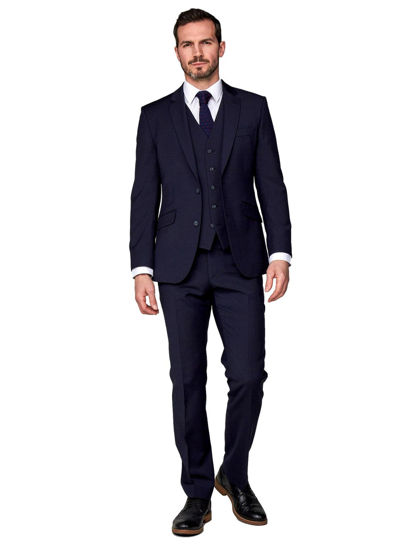 Scott Tapered Fit Mix & Match Suit Waistcoat - Navy