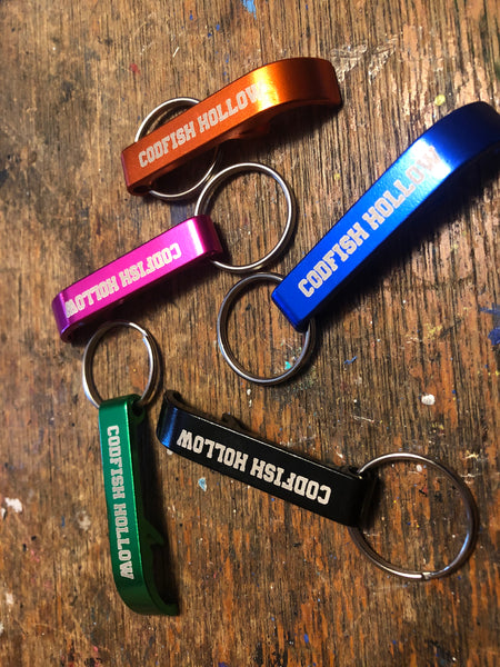 Codfish Hollow Bottle Opener Key Ring