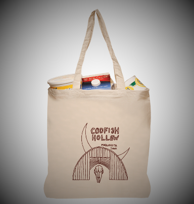 Codfish Hollow Canvas Tote Bags