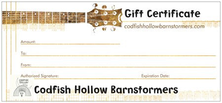 Codfish Hollow Gift Certificate