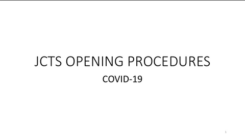 COVID-19 Reopening Procedures