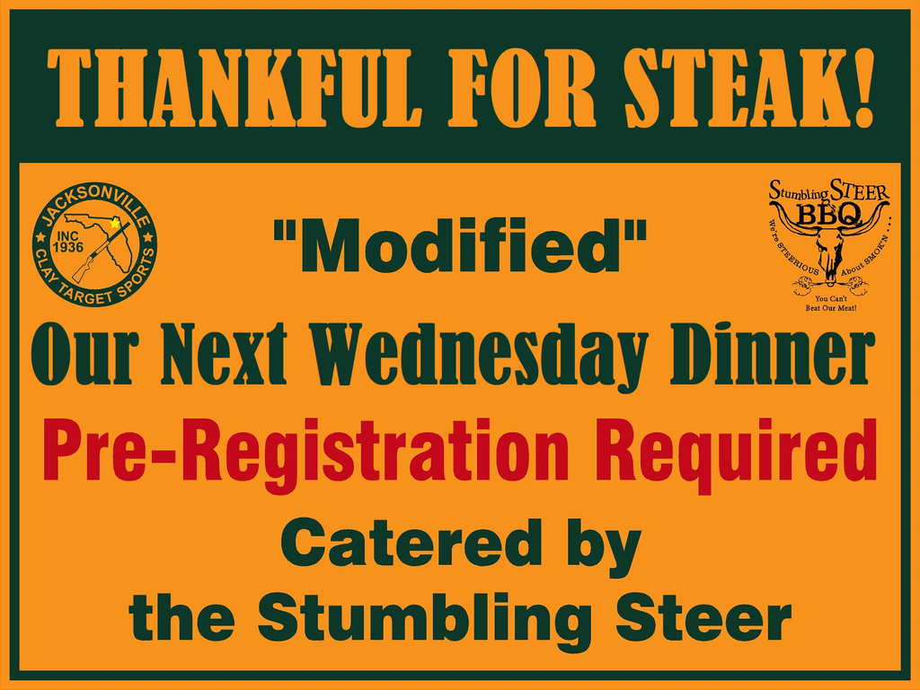 Steak Night Dec 2, 2020 6pm - 8pm