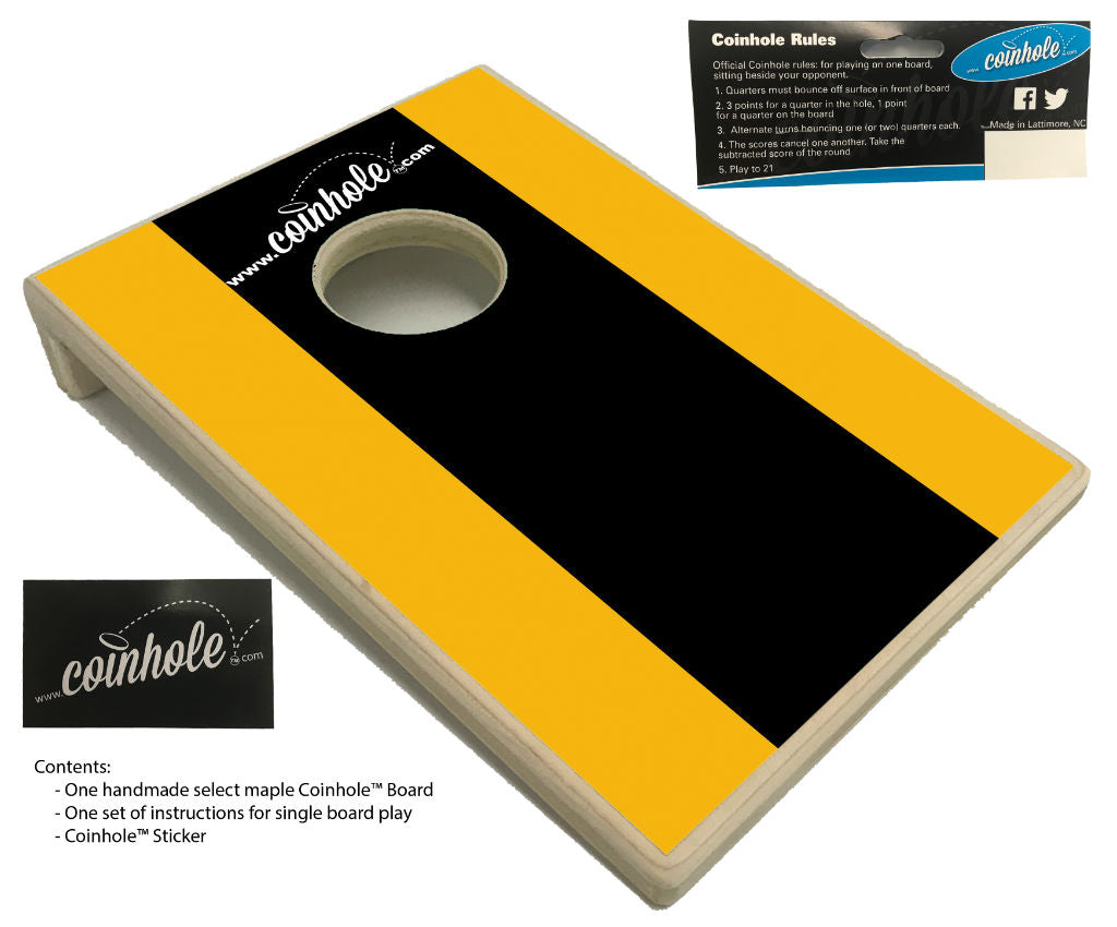 Black and Gold Coinhole™ Board