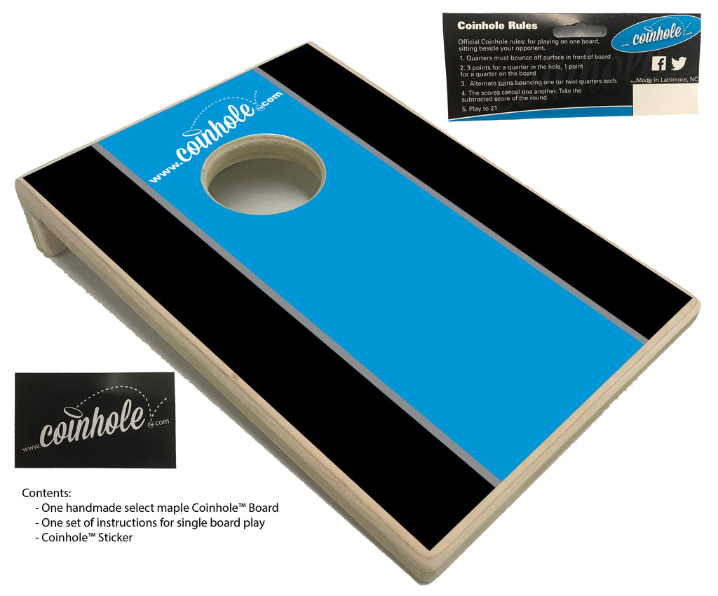 Blue black and Grey Coinhole™ Board