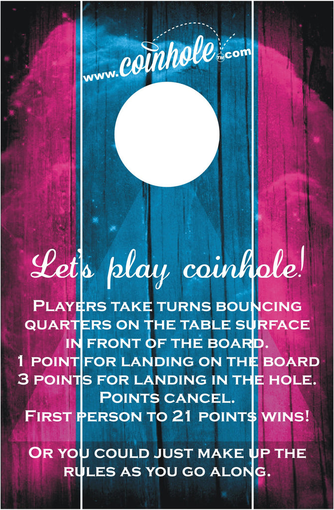 Blue and Pink Official Coinhole™ Board