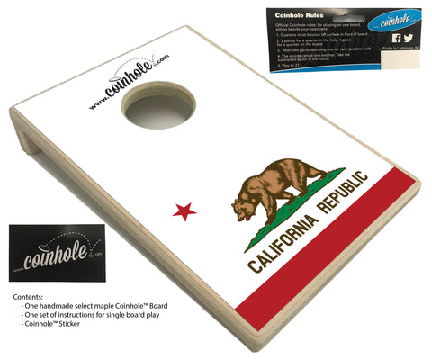 California State Flag Coinhole™ Board