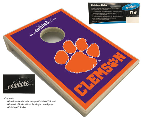 Clemson University Coinhole™ Board