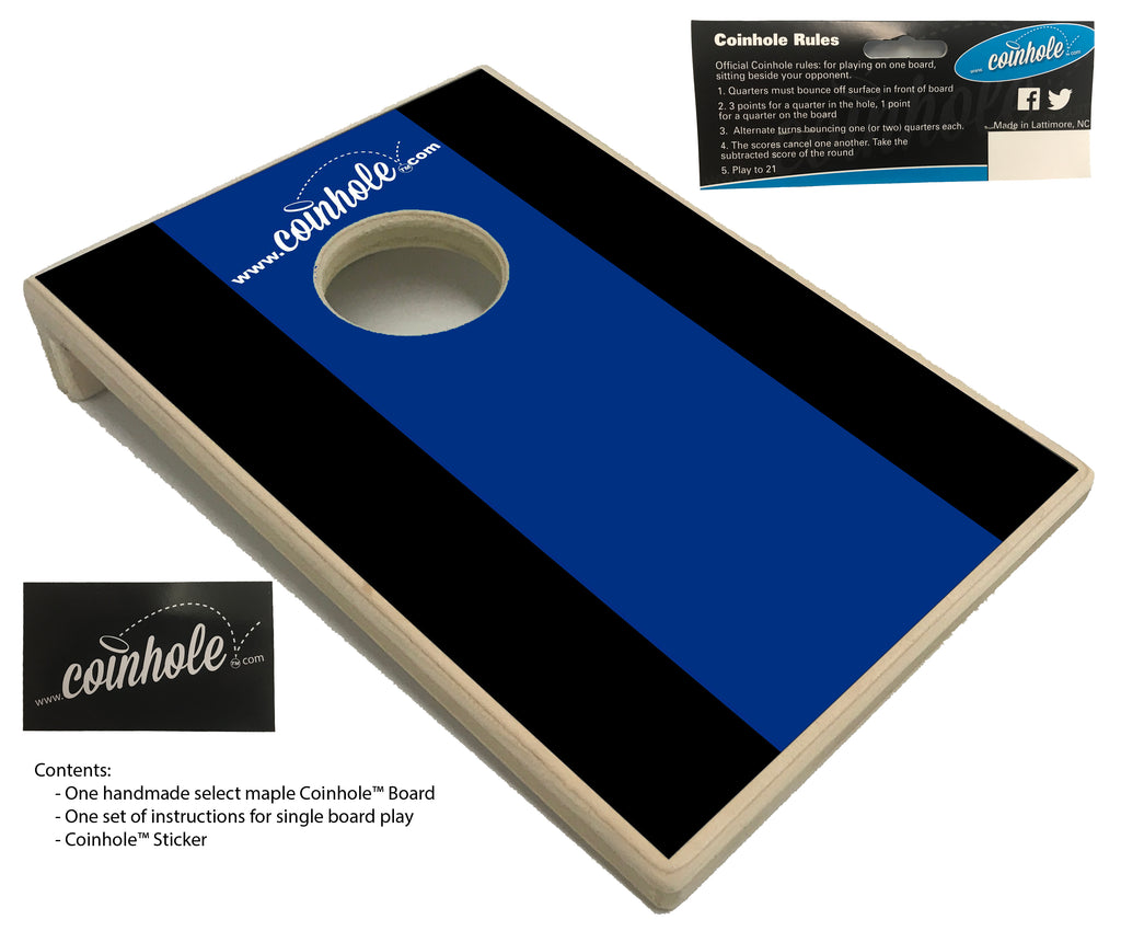 Dark Blue and Black Coinhole™ Board