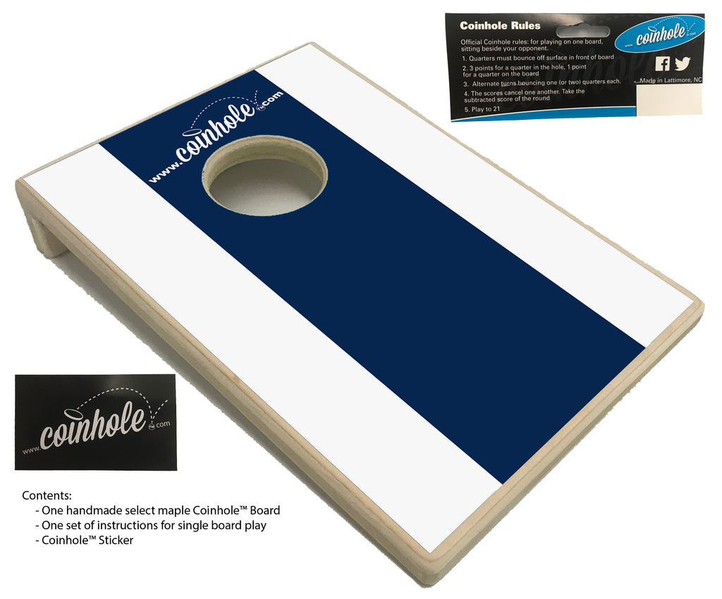 Dark Blue and White Coinhole™ Board