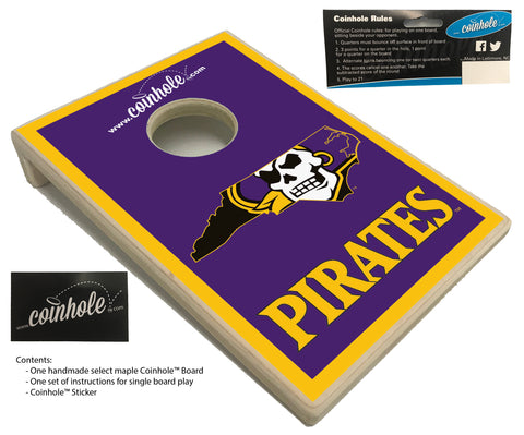 East Carolina University Pirate Coinhole™ Board
