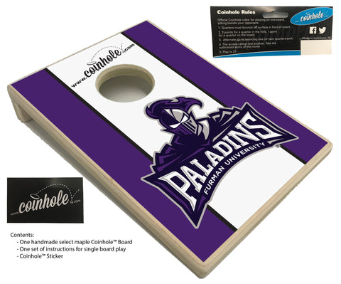 Furman University Paladins Coinhole™ Board