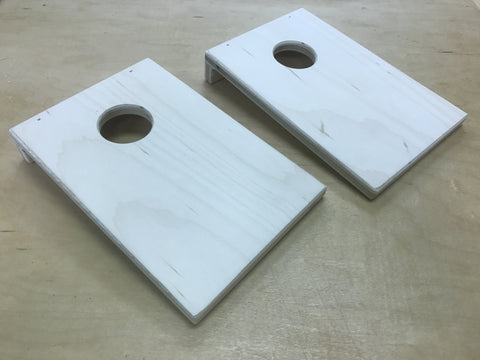 Unfinished Fronts of Coinhole Boards