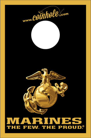 Marines Black and Gold Coinhole™ Board - Officially Licensed