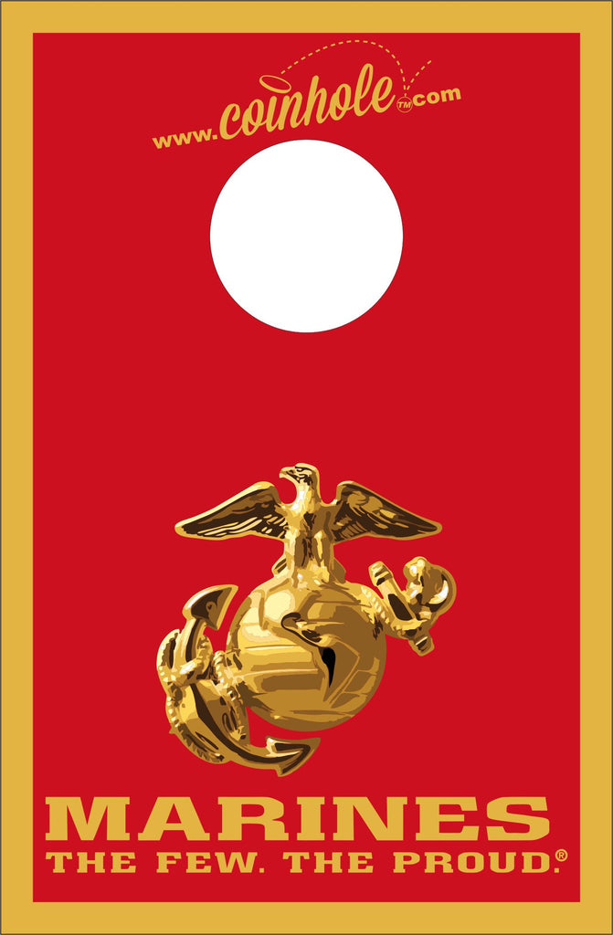 Marines Red and Gold Coinhole™ Board - Officially Licensed
