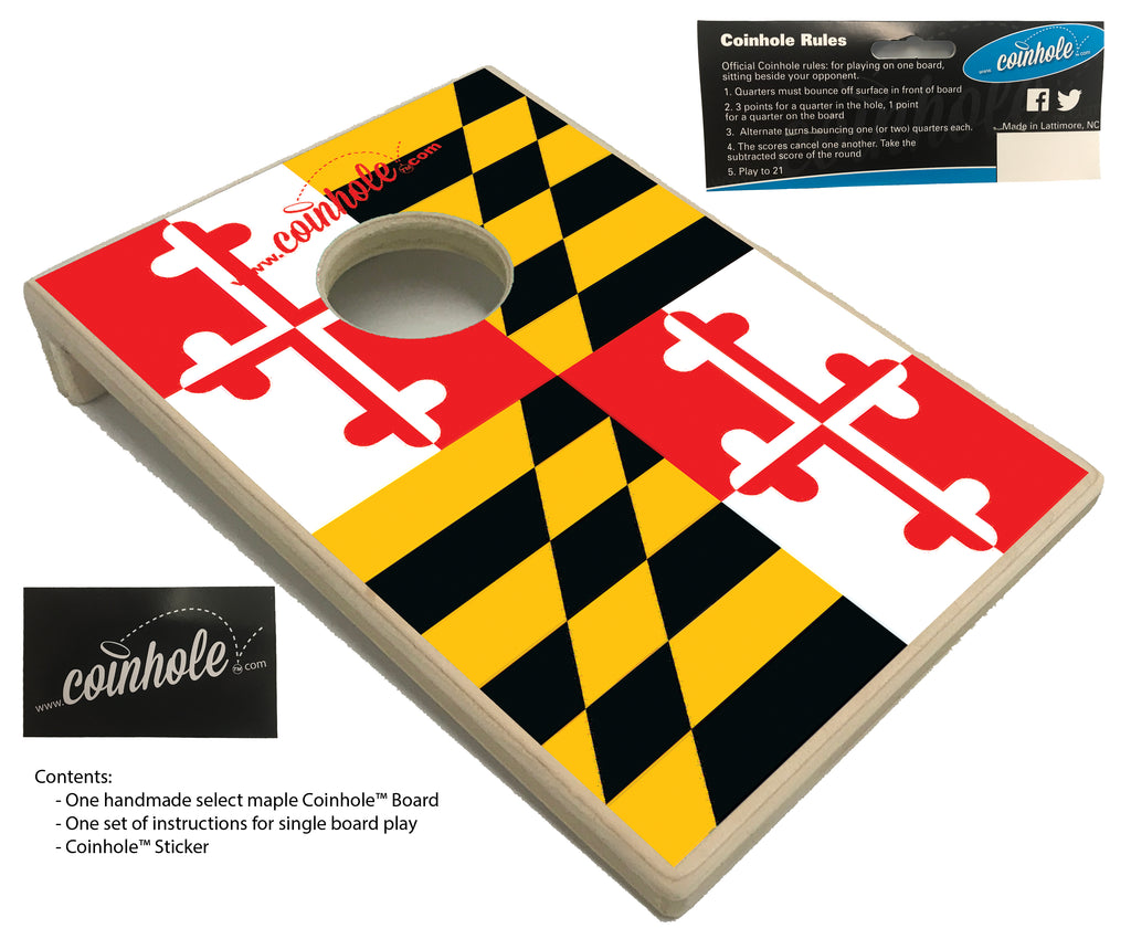 Maryland State Flag Coinhole™ Board