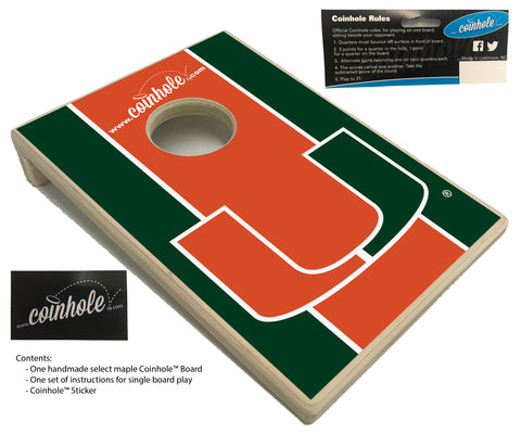 University of Miami Coinhole™ Board