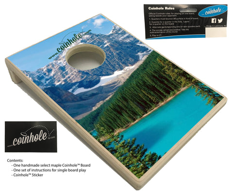 Mountain Scene Coinhole™ Board
