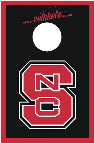 NC State Block S Black Coinhole™ Board - Officially Licensed