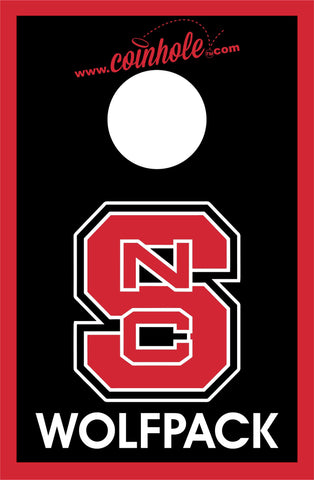 NC State Block S Wolfpack Black Coinhole™ Board - Officially Licensed