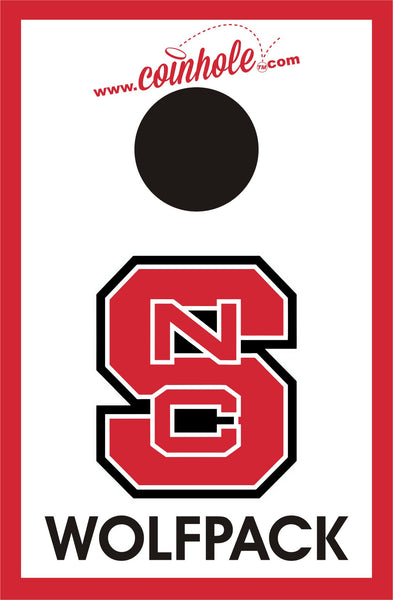 NC State Block S Wolfpack White Coinhole™ Game Set