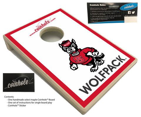 NC State Wolf White Wolfpack Coinhole™ Board