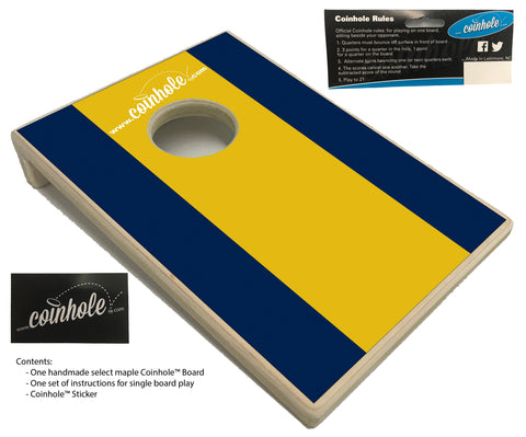 Navy Blue and Yellow Coinhole™ Board