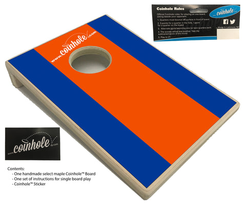 Orange and Blue Coinhole™ Board
