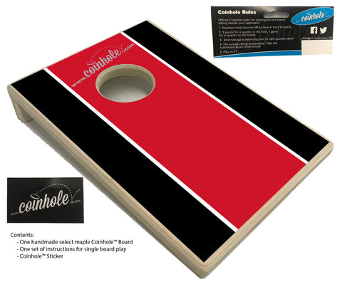 Red and Black Football Party Coinhole™ Board