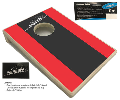 Red and Black Racing Stripe Coinhole™ Board