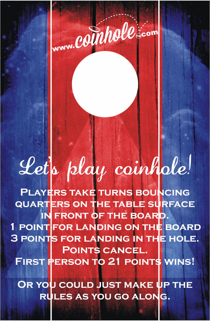 Red and Blue Official Coinhole™ Board