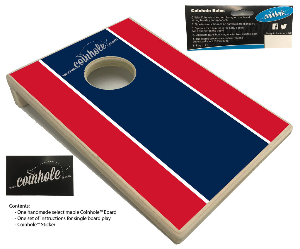 Blue and Red Football Party Coinhole™ Board