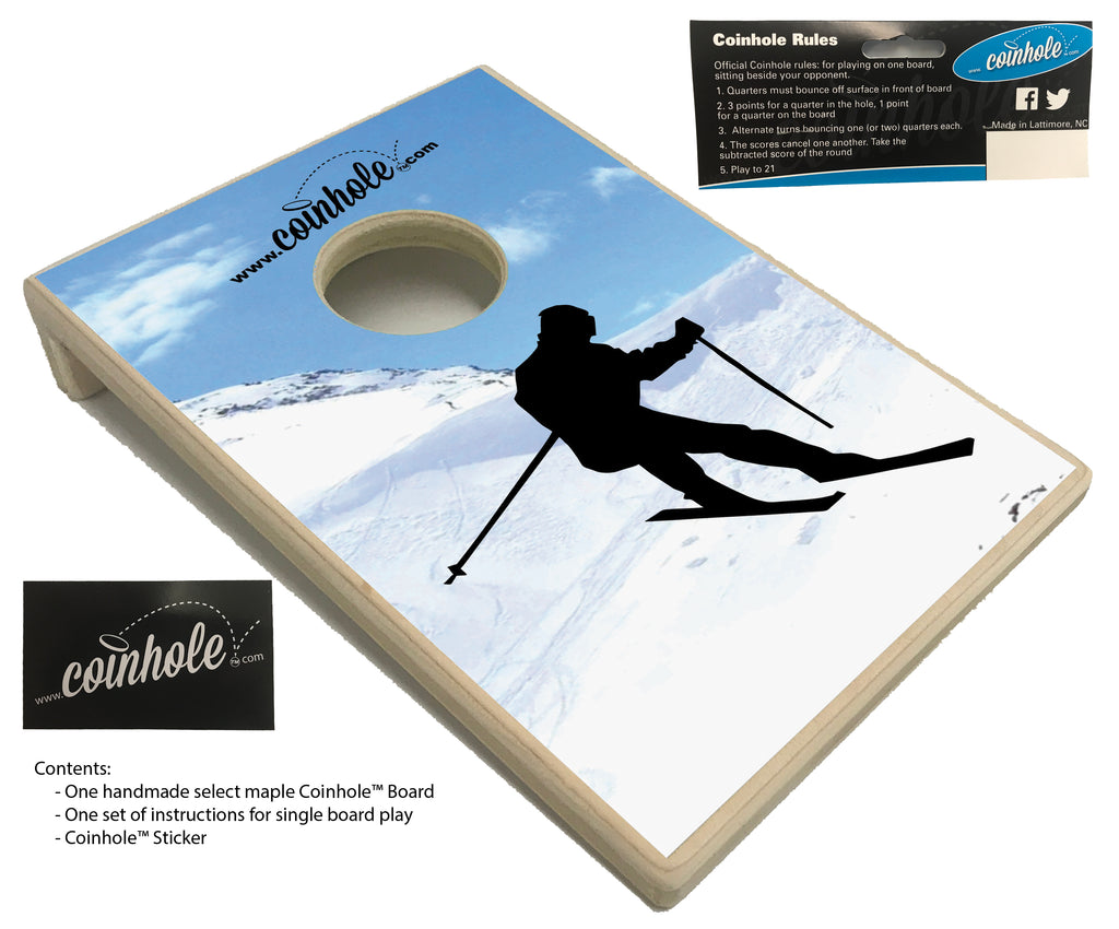 Snow Skiing Coinhole™ Board