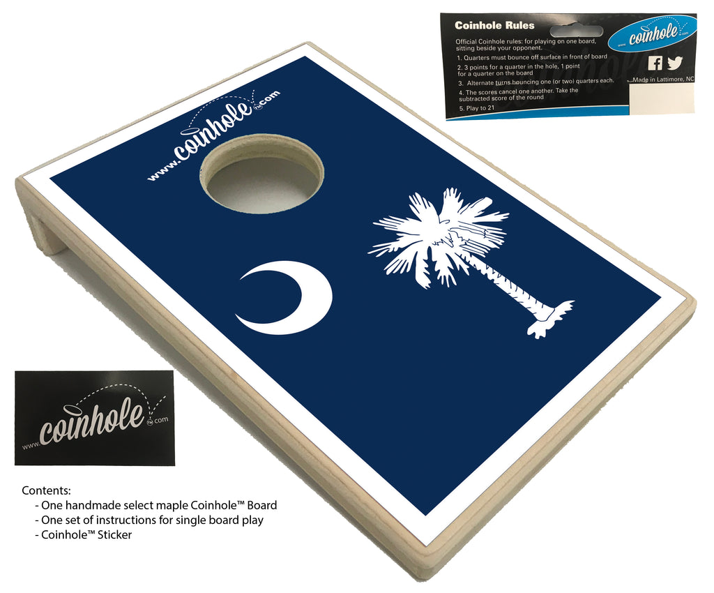 South Carolina Flag Coinhole Board Coinholecom
