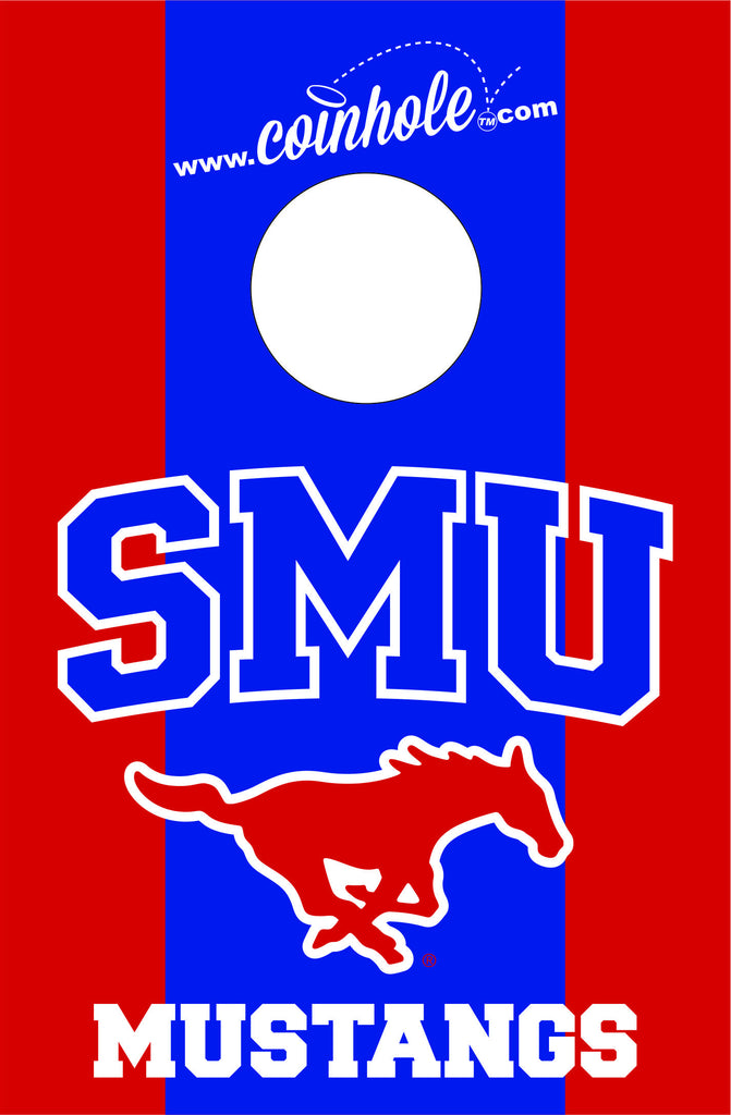 Southern Methodist University Coinhole™ Board - Officially Licensed