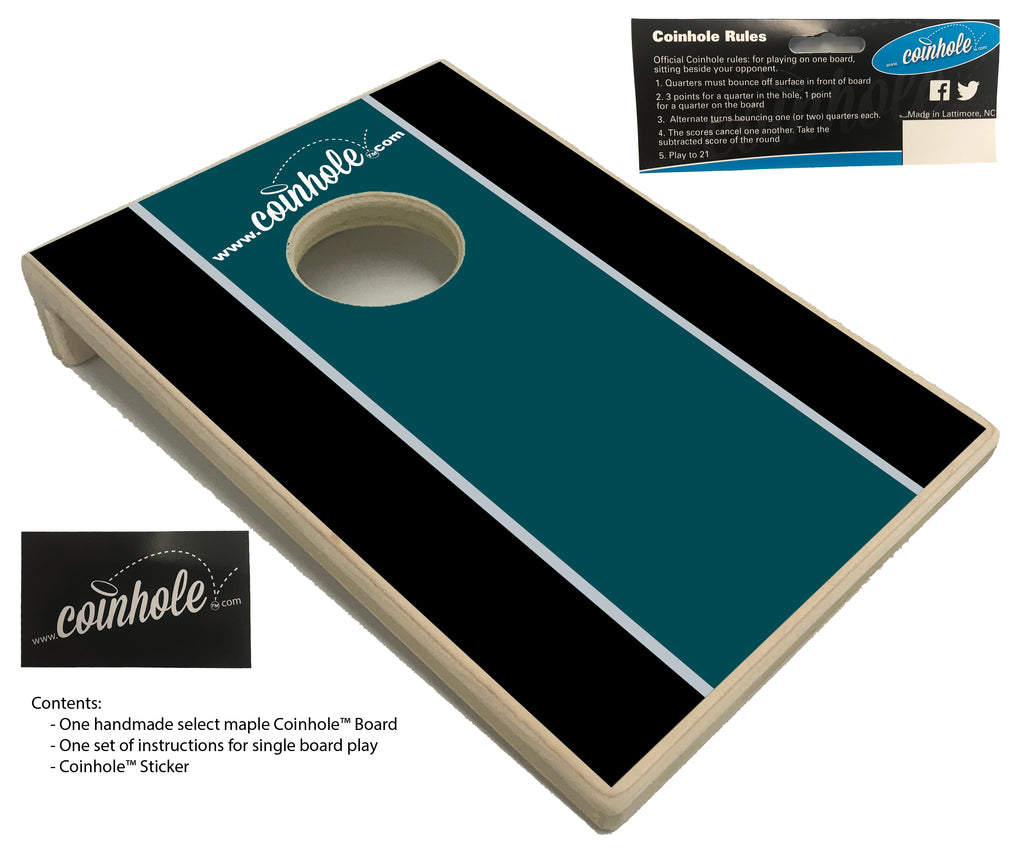 Teal, Black, Grey Coinhole™ Board