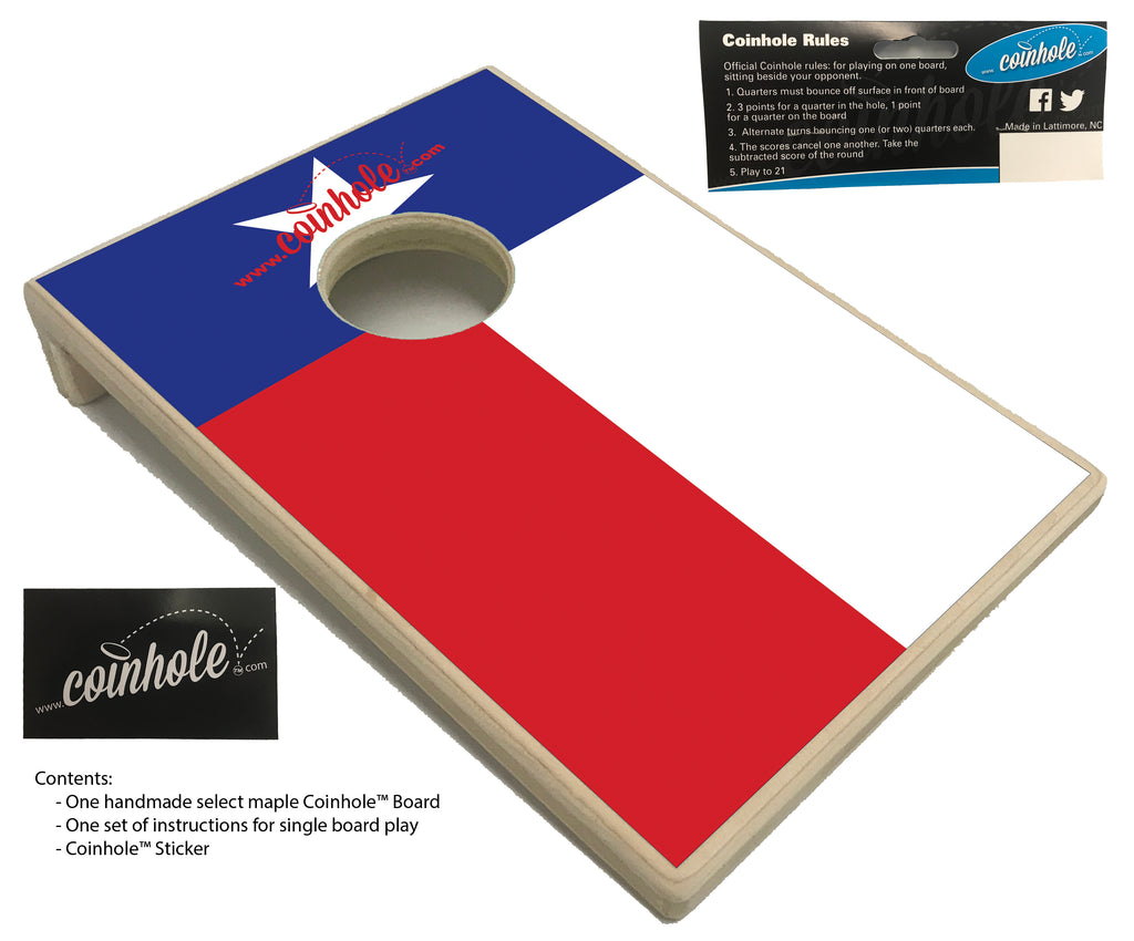Texas Flag Coinhole™ Board
