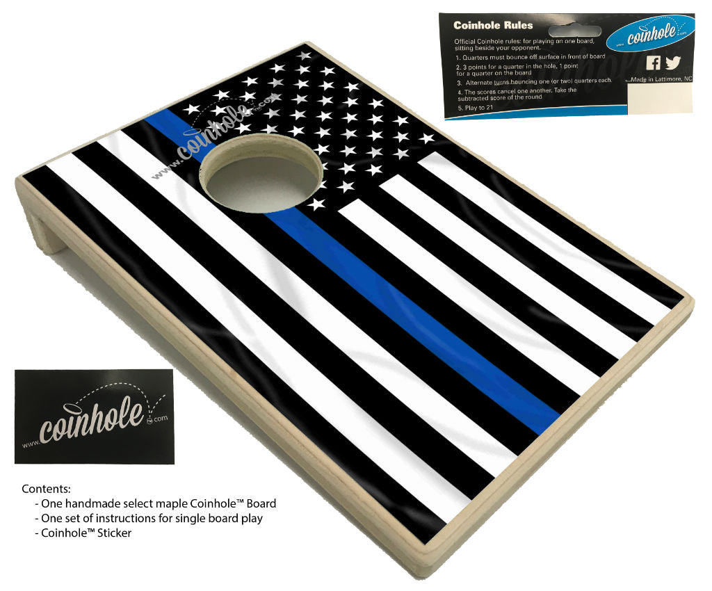 thin blue line coinhole board